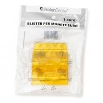 Blister 20 Portamonete in PVC 1euro giallo