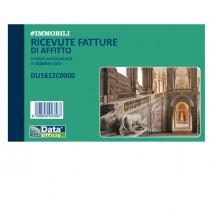 Blocco ricevute-fatture affitto 50-50copie autor. 10x16,8cm DU1612C0000