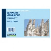 Blocco ricevute generiche 50-50 copie autor. 10x16,8cm DU162570000