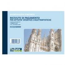 Blocco ricevute pagamento attivitA' sportive 50-50 copie autor. DU162580000