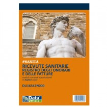 Blocco registro onorari-fatture ricevute sanitarie 50-50 autoric. DU16547N000