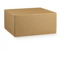 Scatola box per gastronomia d'asporto linea Marmotta 50x40x19,5cm avana