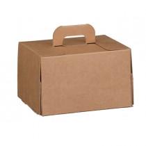 Valigetta box per gastronomia d'asporto linea Cadeaux 16x14x10cm avana