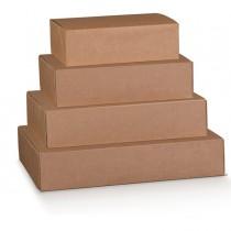 Scatola box per gastronomia d'asporto linea Boite 30x24x12cm avana