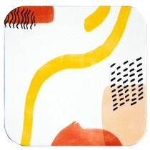 Sottobicchiere 10x10cm Linea Spaghetti - bianco