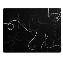 Tovaglietta americana 41x31cm Linea Linee - nero