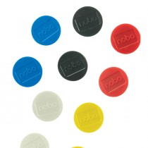 10 Magneti extra-forte Ø38mm colori assortiti Nobo