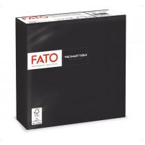50 tovaglioli carta 33x33cm 2 Veli Nero Fato