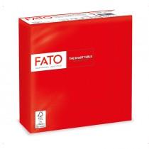 50 tovaglioli carta 33x33cm 2 Veli Rosso Fato