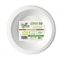 50 Scodelle 355ml BIODEGRADABILI Dopla Green art. 07761
