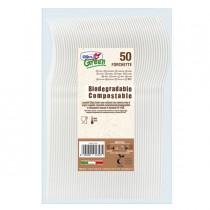 50 Forchette avorio in Estabio Dopla Green art. 03903