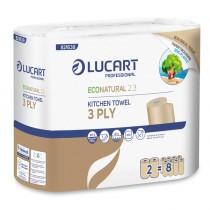 Pacco 2 rotoli Asciugatutto 200 strappi EcoNatural 2.3 Lucart Plastic Free
