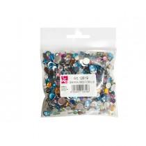 Busta 1000 pz Gemme Kristall tonde diam. 6-10 mm in colori assortiti DECO