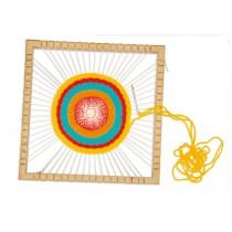 Telaio Mandala in legno 23x23x3cm Cwr