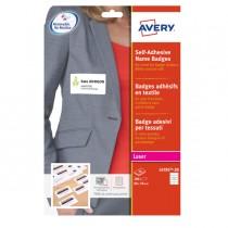Etichette badge in seta acetata 80x50mm (10et-fg) 20fg - laser Avery