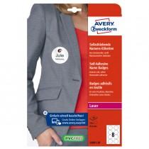 Etichette badge per tessuti rotonde Ø65mm (8et-fg) 20fg - laser Avery