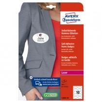 Etichette badge per tessuti ovale 85x50mm (10et-fg) 20fg - laser Avery
