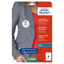 Etichette badge per tessuti rotonde Ø65mm (10et-fg) 20fg - inkjet Avery