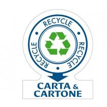 KIT 6 Etichette per la raccolta differenziata CARTA, 141x110mm Tico