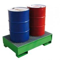 Vasche di raccolta a tenuta stagna per 2 fusti 134x85x33cm