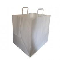 Scatola 150 Shoppers carta craft 36x30x36cm Flat Maxi bianco