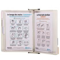 Leggio antibatterico da muro _ 10 buste f.to A4 bianco Tarifold