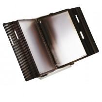 Leggio antibatterico da tavolo _ 10 buste f.to A4 nero Tarifold