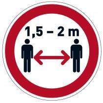 """Pittogramma da pavimento rimovibile """"Mantenere la distanza di sicurezza"""" Ø 43cm"""