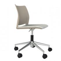 Sedia home-office Alpha AT beige S-braccioli
