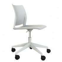 Sedia home-office Alpha GB bianco S-braccioli