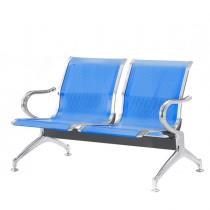 Panca attesa a 2 posti in acciaio Blu