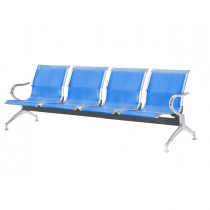 Panca attesa a 4 posti in acciaio Blu