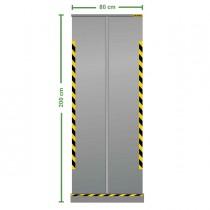 Divisorio roll up trasparente 80x200cm Jalema