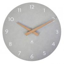 Orologio da parete Ø30cm grigio chiaro-legno HorMilena Alba