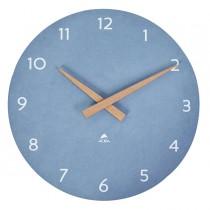 Orologio da parete Ø30cm blu chiaro-legno HorMilena Alba