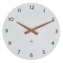 Orologio da parete Ø30cm bianco-legno HorMilena Alba