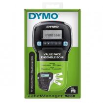 Promo Pack ETICHETTATRICE LABELMANAGER 160 DYMO_3 nastri D1 12mm N-B