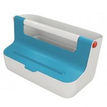 Cassetta portaoggetti con maniglia blu Cosy Leitz