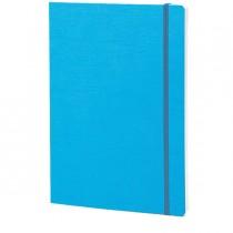 Taccuino c-elastico EcoQua blu f.to A5 80pag. carta bianca Fabriano