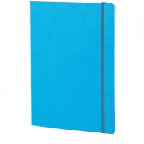 Taccuino c-elastico EcoQua blu f.to A5 80pag. carta puntinata Fabriano