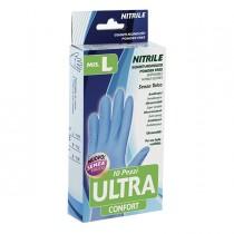 Confezione da 10 guanti monouso in nitrile Tg. L blu