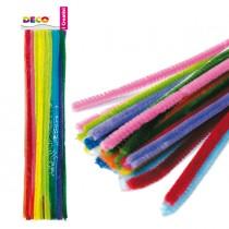 Ciniglia animata stelo da 9mm in colori assortiti Busta da 30 fili DECO