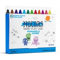Astuccio 12 pennarelli colorati Jumbo Molors OSAMA