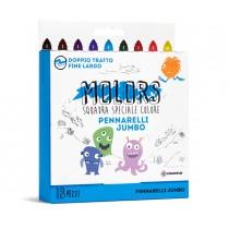 Astuccio 18 pennarelli colorati Jumbo Molors OSAMA