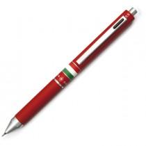 Penna sfera scatto multifunzione QUADRA fusto rosso gommato Italia OSAMA