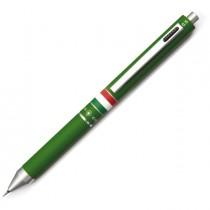 Penna sfera scatto multifunzione QUADRA fusto verde gommato Italia OSAMA