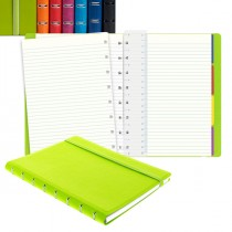 Notebook f.to A5 a righe 56 pag. nero similpelle Filofax