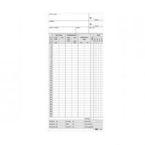 100 SCHEDE OROLOGIO MENSILI 22X10 AZZURRO E3866BL