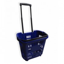 Cesto trolley antiurto 30Lt Blu Printex