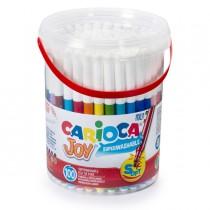Barattolo 100 pennarelli fine Joy colori assortiti Carioca